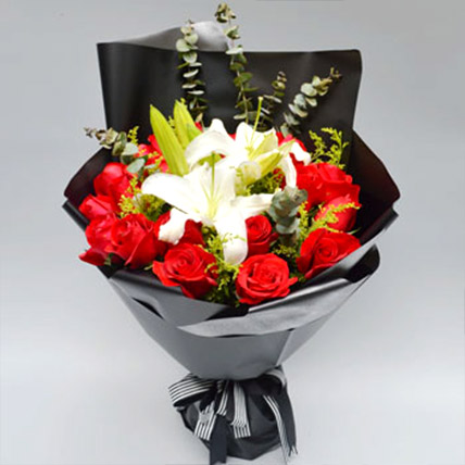 Red Rose and Lily Love: Send Gifts To China