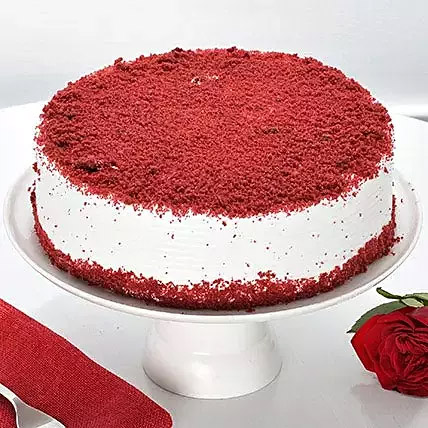 Red Velvet Fresh Cream cake: Send Gifts To India