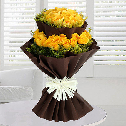 40 Yellow Roses Bunch: Wedding Bouquets