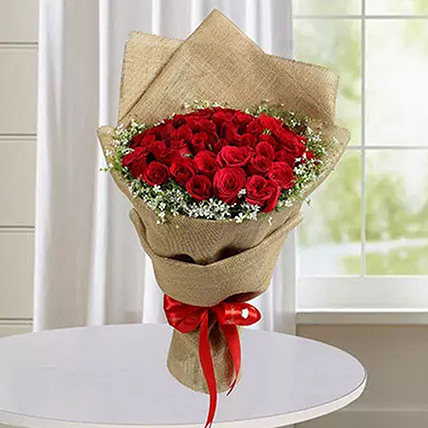 50 Red Roses Bunch: Flower Bouquets