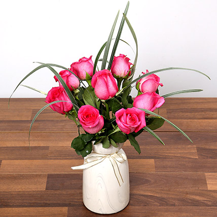 Alluring Dark Pink Roses: New Arrival Gifts