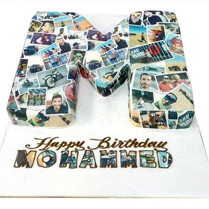 Birthday Cake with Picture: Personalized Gifts for Him