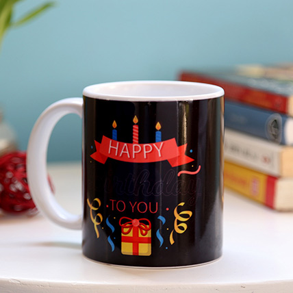 Birthday Candles and Gift Mug: Birthday Mugs