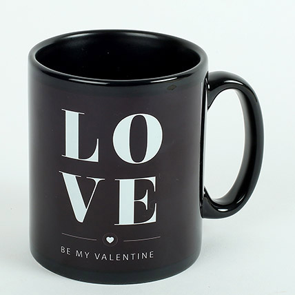 Black Ceramic Love Mug: Hug Day Gifts