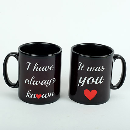 Black Love Mugs: Promise Day Gifts
