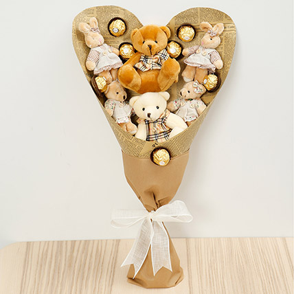 Chocolates and Teddy Bear Bouquet: New Arrival Gifts