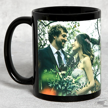 Classic Black Personalised Mug: Anniversary Mugs