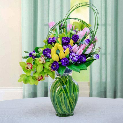 Colourful Flower Arrangement: Easter Flowers