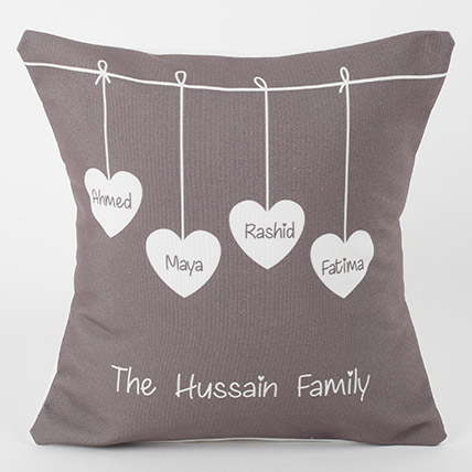Family Love Personalized Cushion: Bhai Dooj Personalised Gifts