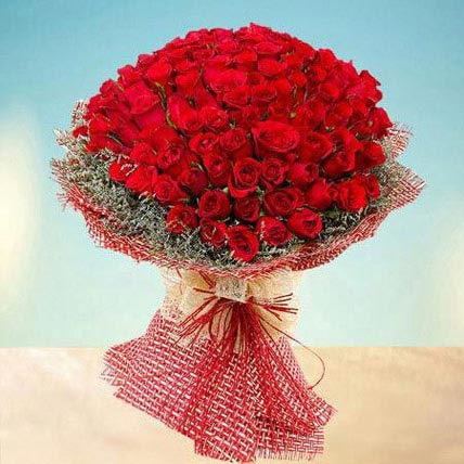 Grand 100 Red Roses: Grandparents Day Gifts