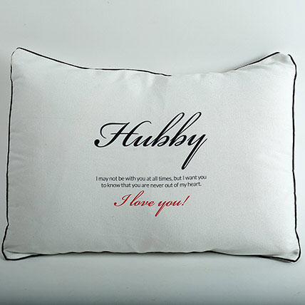 Hubby Pillow Cover: Promise Day Gifts