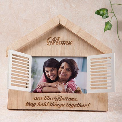 Hut Shaped Personalized Frame: Personalised Gifts for Mother