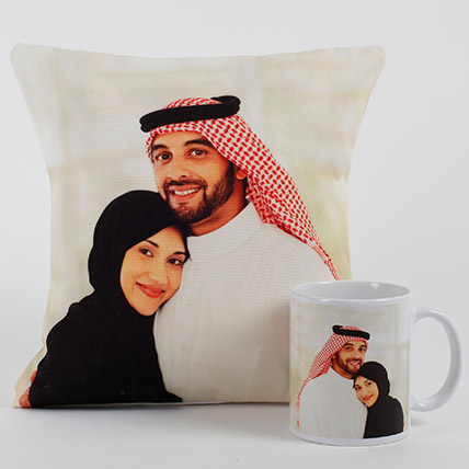 Lovable Personalized Cushion N Mug: Anniversary Gifts