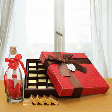 Love Message with Chocolates: Personalized Gifts