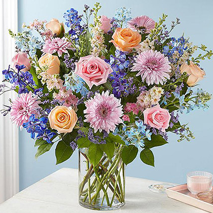 Lovely Bunch Of Colourful Flowers: Gerberas Flowers