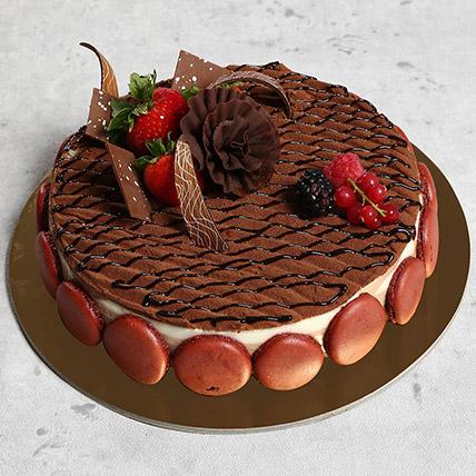 Luscious Triple Chocolate Cake: Anniversary Cakes for Wife