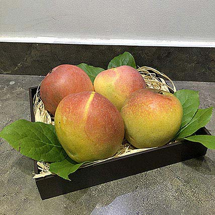 Mango Honeygold in Wooden Tray: Fruit Baskets