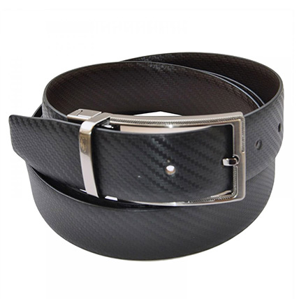 Mens Genuine Leather Reversible Formal Belt: Accessories