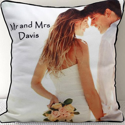 Mr N Mrs Personalized Cushion: Personalised Gifts to Al Ain