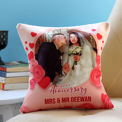 Personalised Anniversary Cushion: Anniversary Cushions