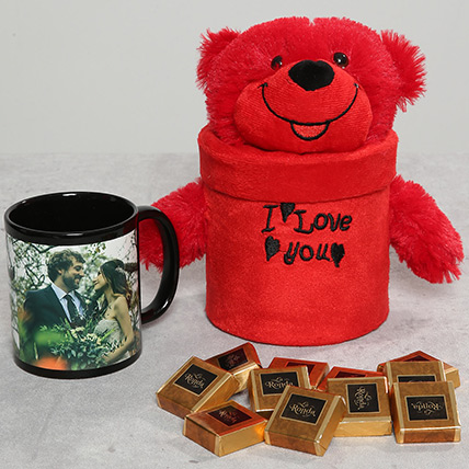 Personalised Mug and Teddy Bear Combo: Anniversary Personalised Gifts