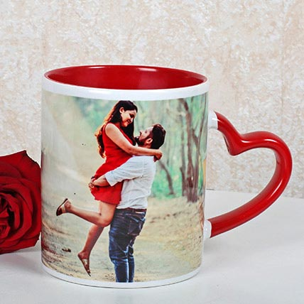 Red And White Personalized Mug: Personalised Gifts to Al Ain