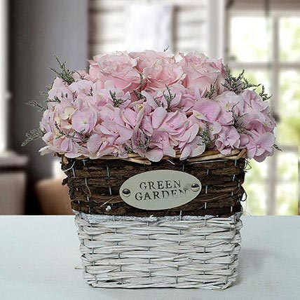 Stupendous Flower Basket Arrangement: Basket Arrangements