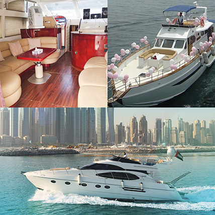 SUNRISE 52FT Yacht With Balloon Decor Online: Experiential Gifts