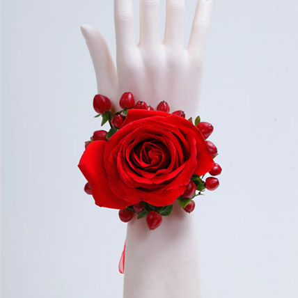 Spectrum of Red Bracelet: Flower Delivery for Bride