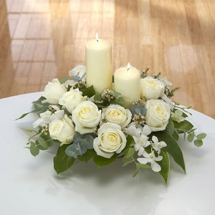 Center Table Arrangement: Sympathy & Funeral Flowers to Abu Dhabi