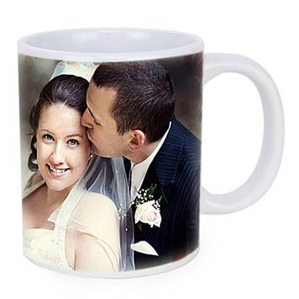 Personalized Couple Photo Mug:  Anniversary Gift For Husband