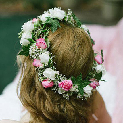 Gorgeous Floral Tiara: Flower Jewellery