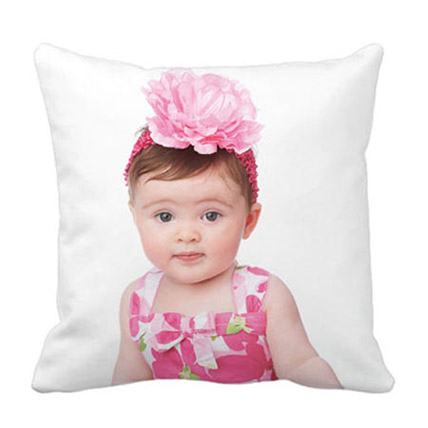 Personalized Pretty Photo Cushion: Gifts for Kids