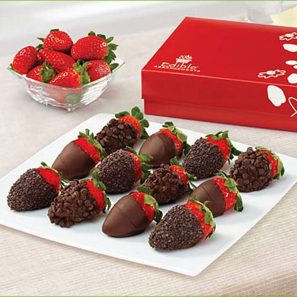 Chocolate Indulgence Strawberries Box: Halloween Gifts