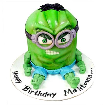 Minion Green Cake: Minion Cake