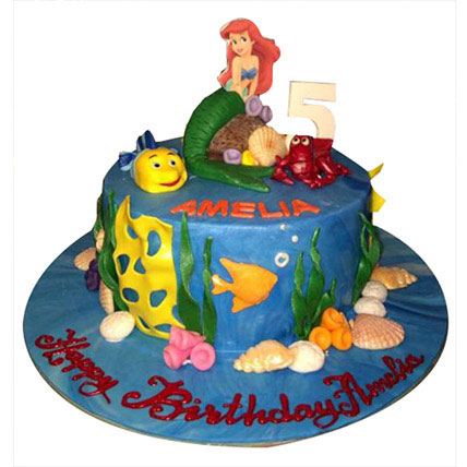 Ariel Mermaid Princess Cake: Princess Cakes