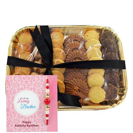 Pearl Rakhi N Cookies: Rakhi With Cookies