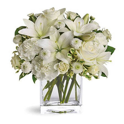 White Beauty: Eid Mubarak Flowers
