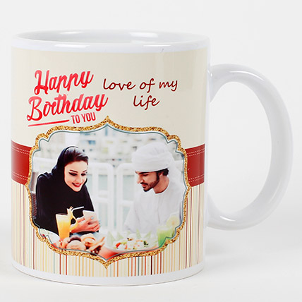 Romantic Birthday Personalized Mug: Personalised Gifts for Her