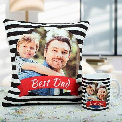Best Dad Cushion And Mug Combo: Personalised Gifts to Dubai