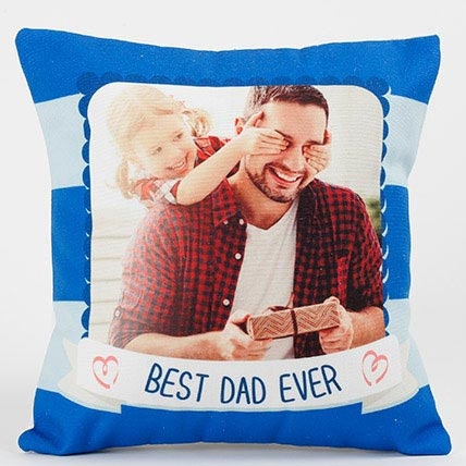 Best Dad Ever Personalized Cushion: Fathers Day Gifts