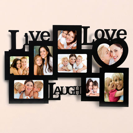 Live Love Laugh Photo Frame: Personalized Gifts for Birthday