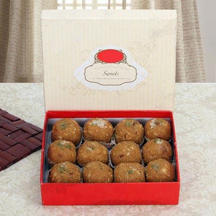 Box of Dry Fruit Besan Laddoo: Holi Gifts