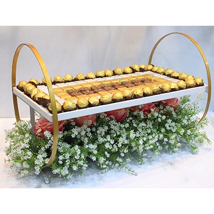 Designer Chocolate Tray: Send Gifts to Dubai