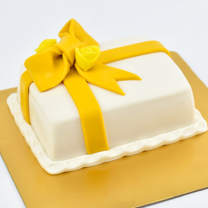 Designer Gift Wrapped Mono Cake: Birthday Gifts for Friend