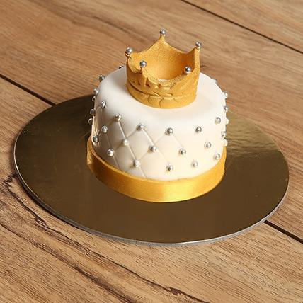 Designer Crowned Mono Cake: Anniversary Cakes