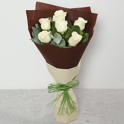 Bouquet Of White Roses: Sympathy & Funeral Flowers