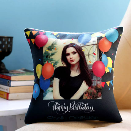 Personalised Birthday Balloons Cushion: Birthday Gifts to Sharjah