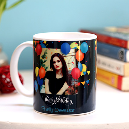 Personalised Birthday Balloons Mug: Personalised Gifts to Dubai