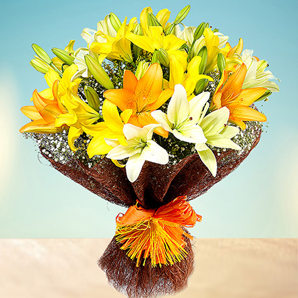 Sunny Asiatic Lilies: Wedding Bouquets